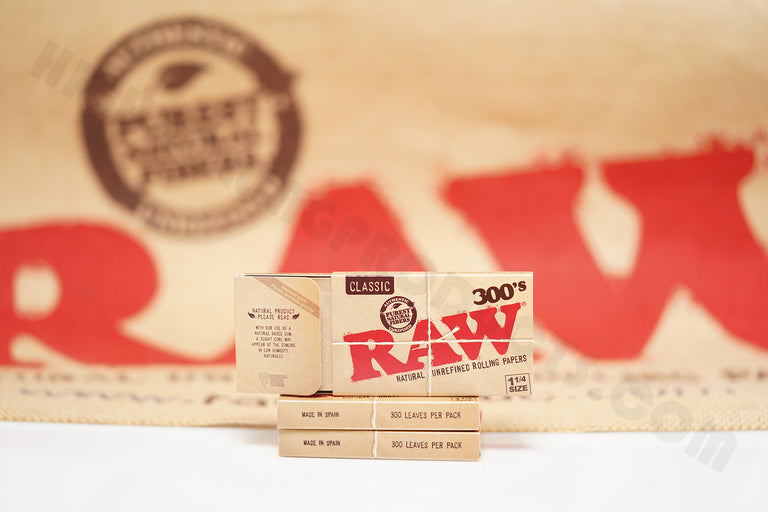 3 Packs Of AUTHENTIC Raw Classic Rolling Paper 300's (300 Leaves Per Pack)