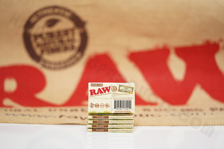 5 Packs Of AUTHENTIC Raw Organic Rolling Paper 1 1/2 (32 Leaves Per Pack)