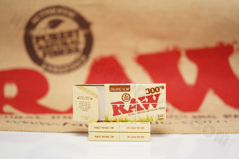3 Packs Of AUTHENTIC Raw Organic Rolling Paper 300's (300 Leaves Per Pack)
