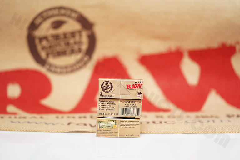 3 Packs(3 Meter Per Pack) Authentic Raw Classic King Size Rolls Rolling Paper