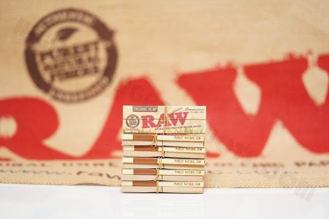 6 Packs(50 Leaves And 50 Tips Per Pack) Of AUTHENTIC Raw Organic Connoisseur 1 1/4 Size Rolling Paper