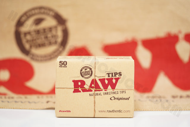 Full Box 50 Packs(50 Tips Per Pack) Of Raw Rolling Paper Original Tips
