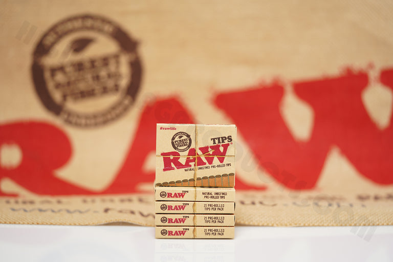 Full Box 20 Packs(21 Tips Per Pack) Of Raw Rolling Paper Pre-Rolled Tips