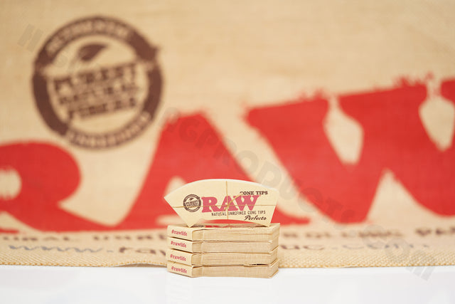 5 Packs(32 Tips Per Pack) Of Raw Rolling Paper Perfecto Cone Tips