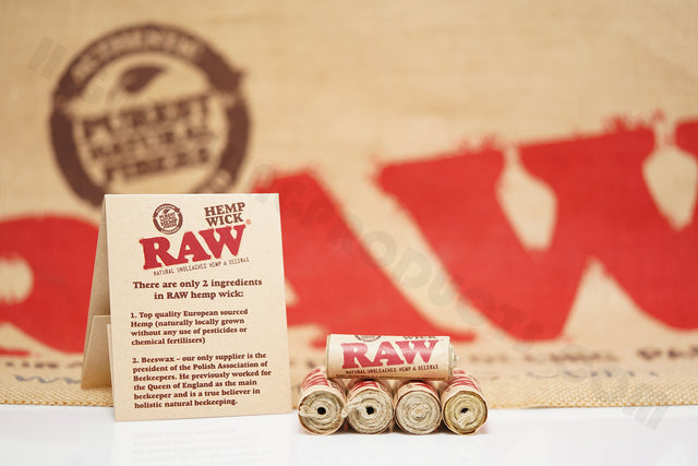 5 Rolls(20 ft / 6 meter In Each Roll) Of Raw Hemp Wick