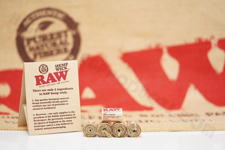 5 Rolls(10 ft / 3 meter In Each Roll) Of Raw Hemp Wick