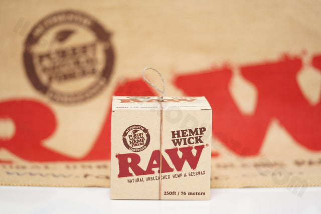 Raw Hemp Wick 250 ft / 76 meters