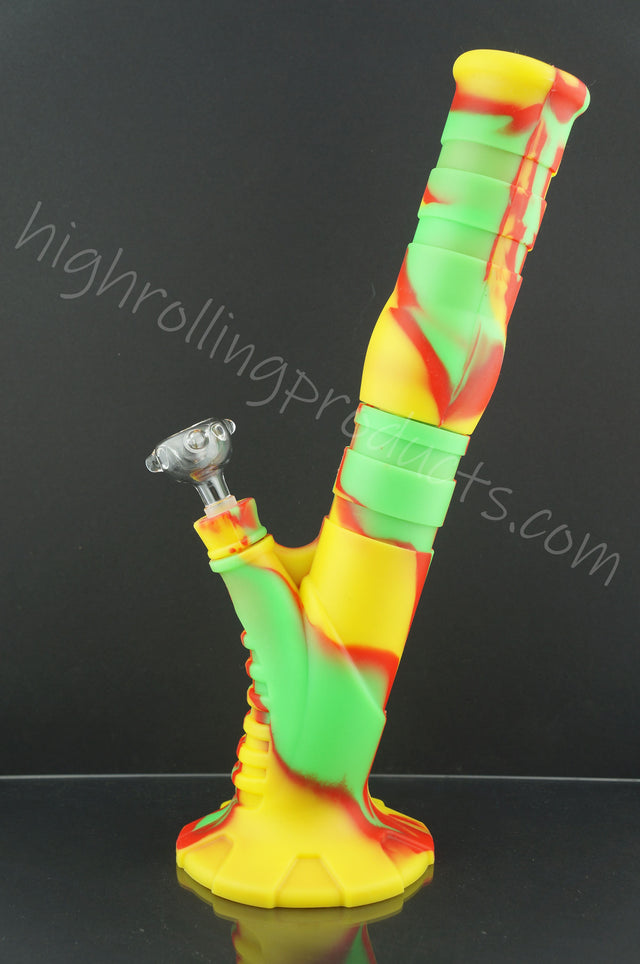 "High Quality Silicone Hookah Bubbler 13.5"" X 2.5"" Tobacco Pipe"
