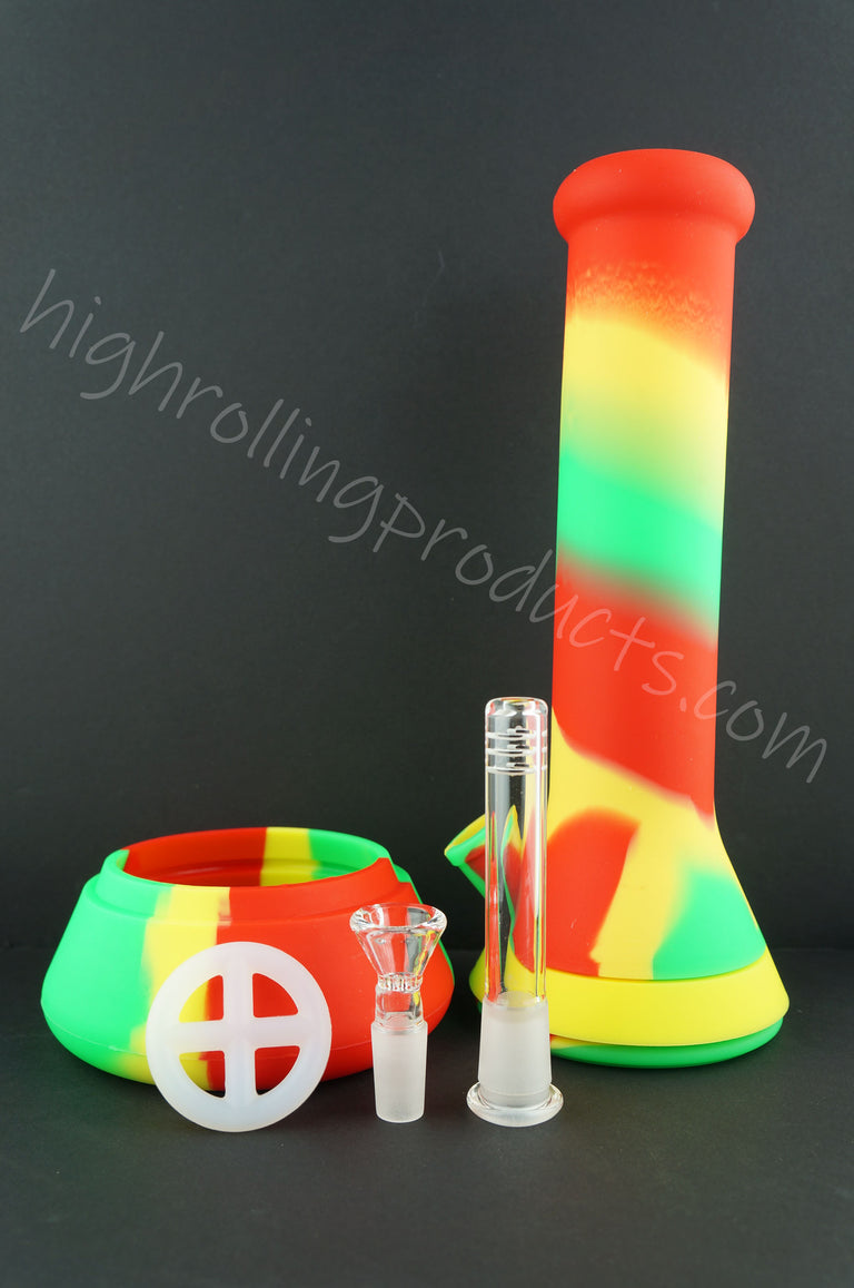 "High Quality Silicone Hookah Bubbler 12"" Tobacco Pipe"