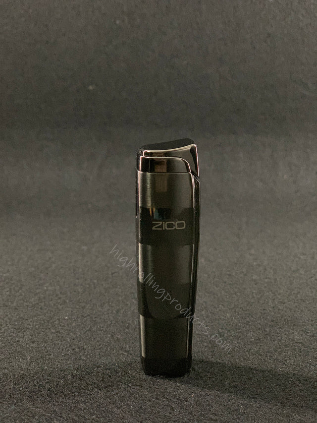 Zico ZD-19 Butane Refillable Adjustable Single Flame Torch Lighter (Gunmetal)
