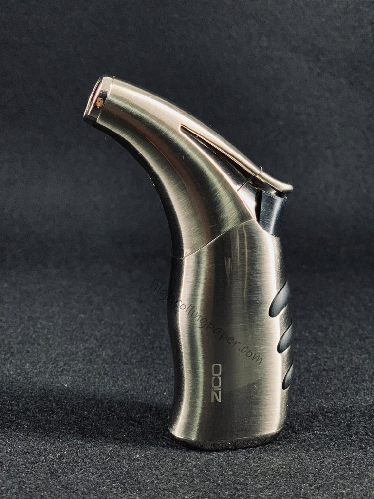 Zico MT-20 Butane Refillable Adjustable Single  Torch Flame Lighter (Silver color)