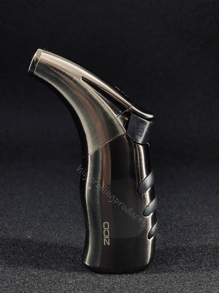 Zico MT-20 Butane Refillable Adjustable Single  Torch Flame Lighter (Gunmetal gray color)