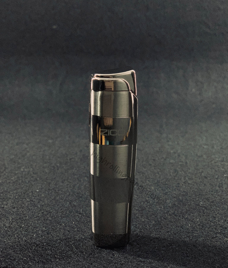Zico ZD-19 Butane Refillable Adjustable Single Flame Torch Lighter (Silver color)