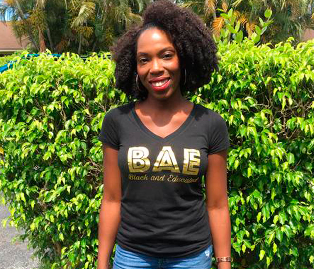 B.A.E. V-Neck Ladies Tee