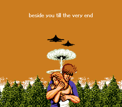8 Bit Stories Beside You Til The Very End Pixel Art