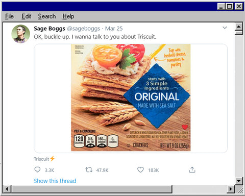 This Twitter Thread About Triscuits