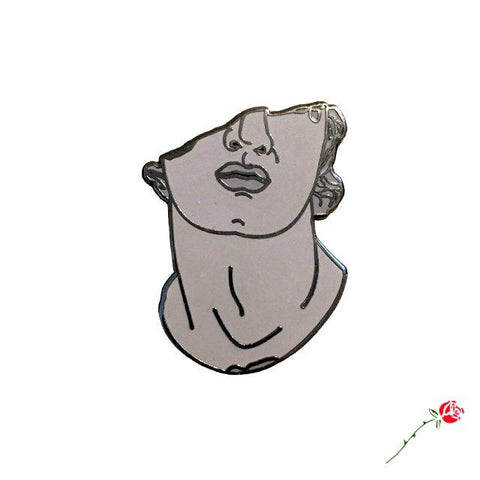 Inner Decay Fragmentary Head of a Youth Vaporwave Enamel Pin