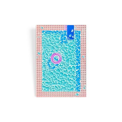 Jiro Bevis PSA Press Pool Vaporwave Enamel Pin