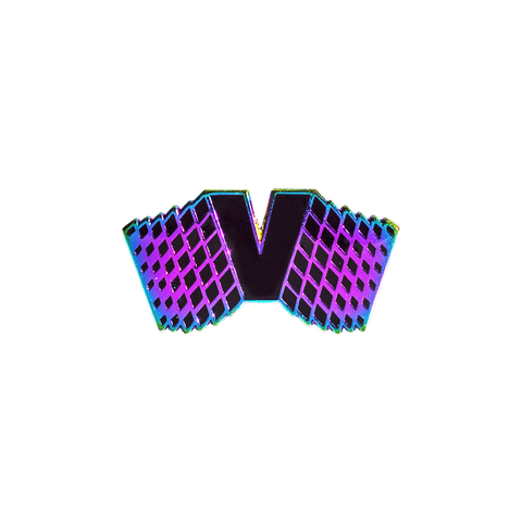 Vapor95 Flying V Vaporwave Pin