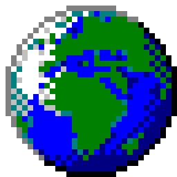 The Signs as Windows 95 Icons - Globe Icon - Sagittarius