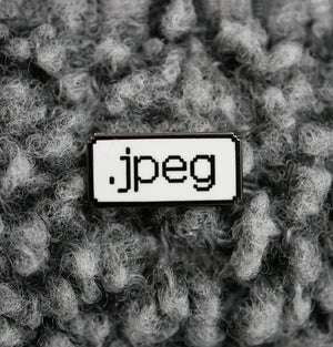 Jpeg pixel enamel pin gift for designers