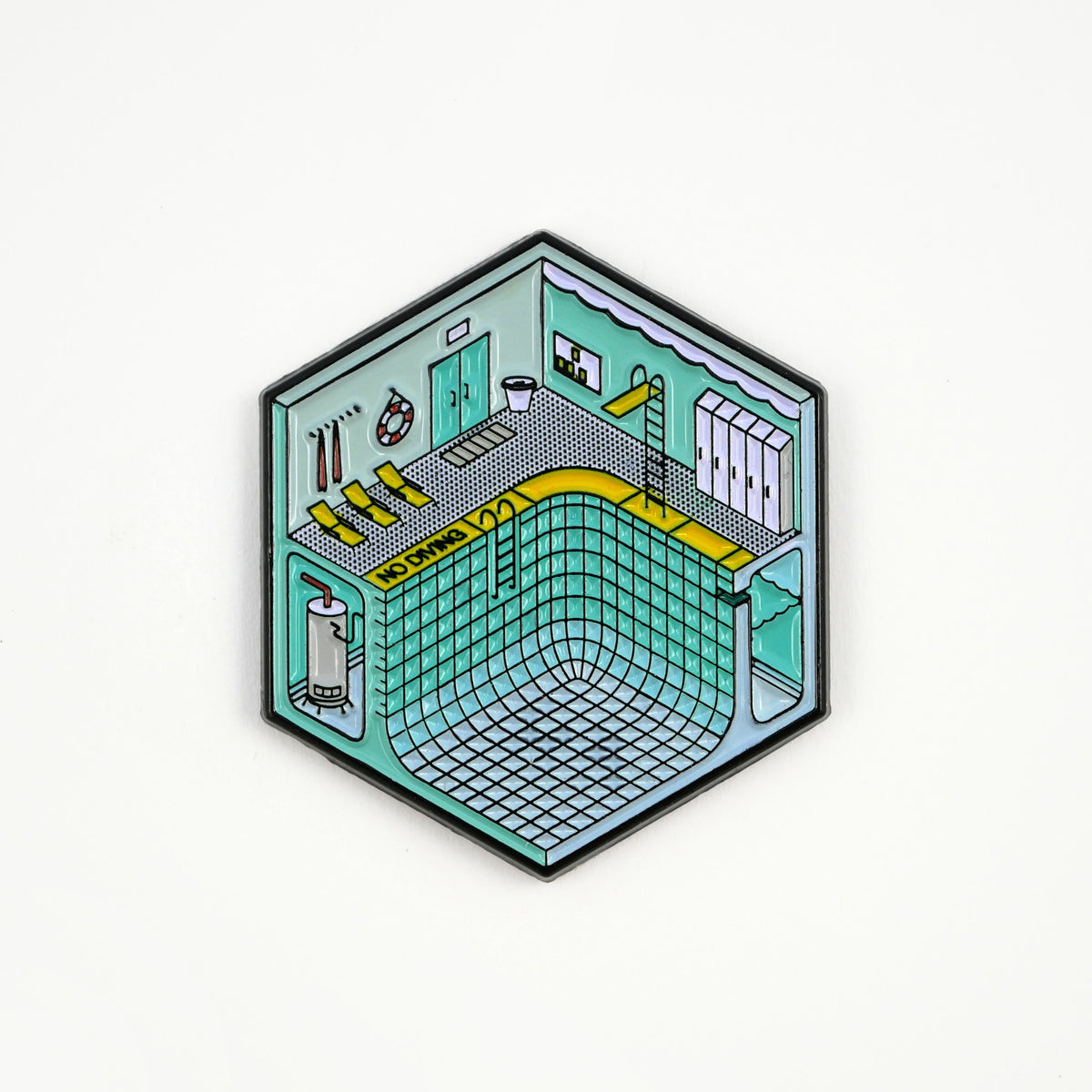 Studio Cult Isometric Pool Pin aesthetic vaporwave
