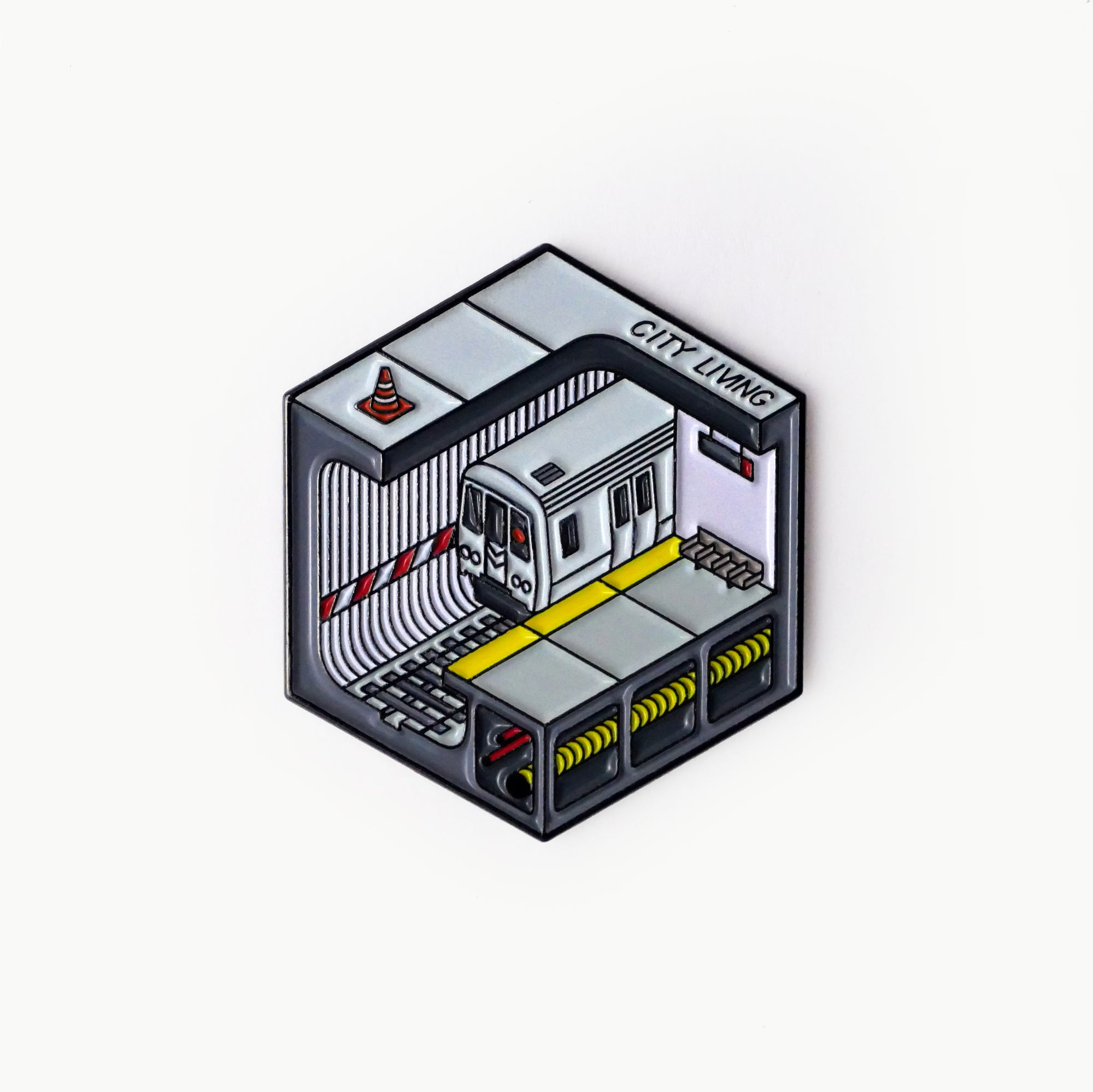 Subway Metro Isometric Enamel Pin