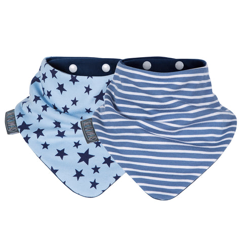 Pack Baberos-Blue Stars & Stripes-Natugo