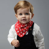 Pack Baberos-Grey Stripes & Red Stars-Natugo