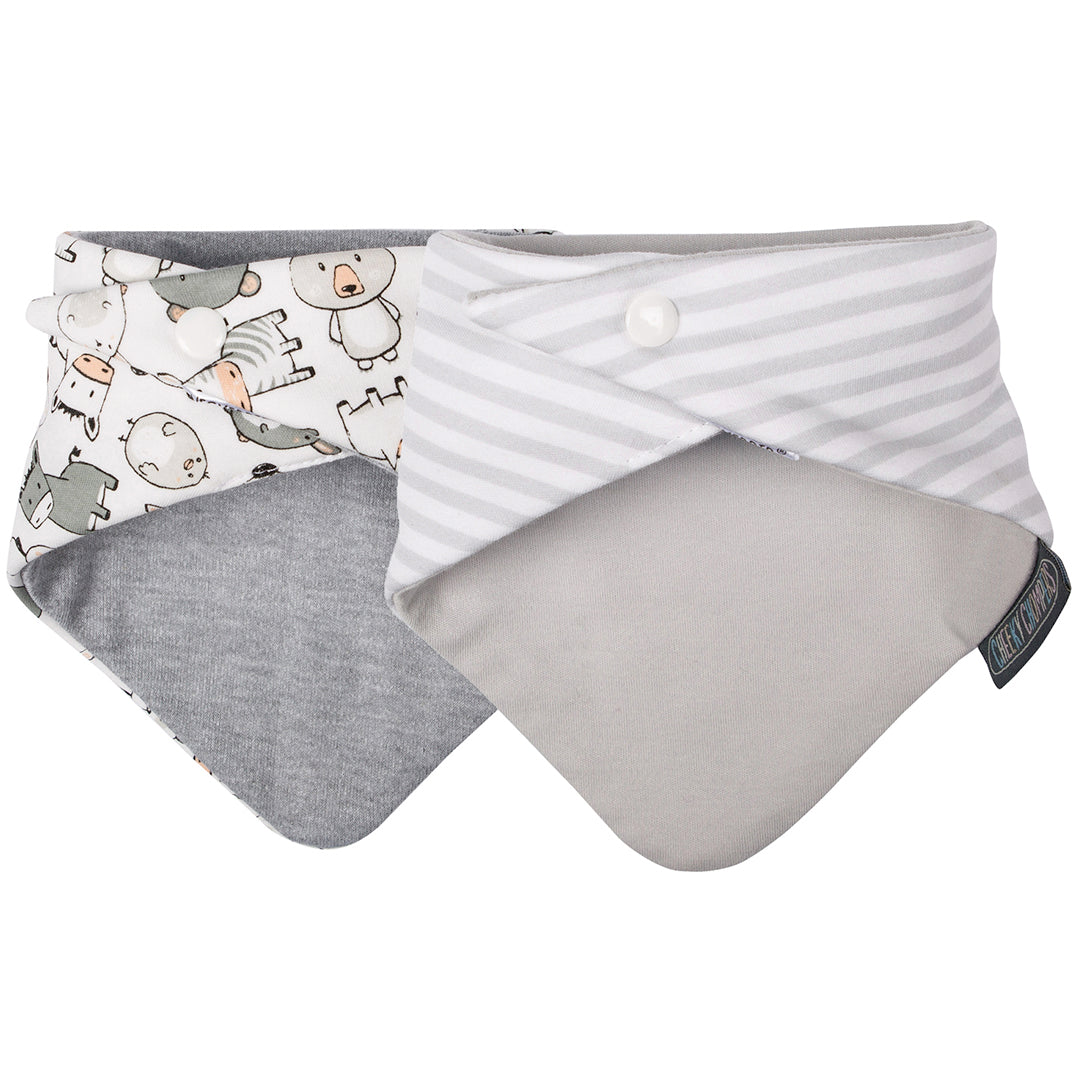 Pack Baberos-Panda Pals & Grey Stripes-Natugo