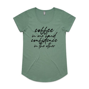 Coffee and Confidence Scoop Neck Tee