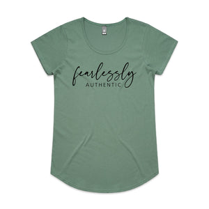 Fearlessly Authentic Scoop Neck Tee