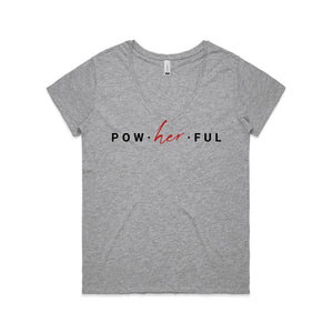 Pow-her-ful V Neck Tee