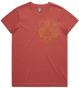Fierce Females Club - Rust Pink Tee