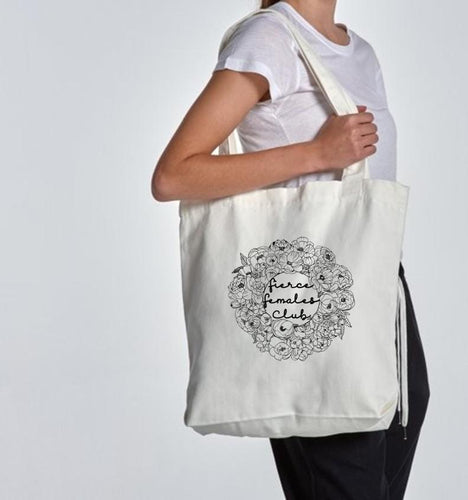 Tote Bag - Cream Floral
