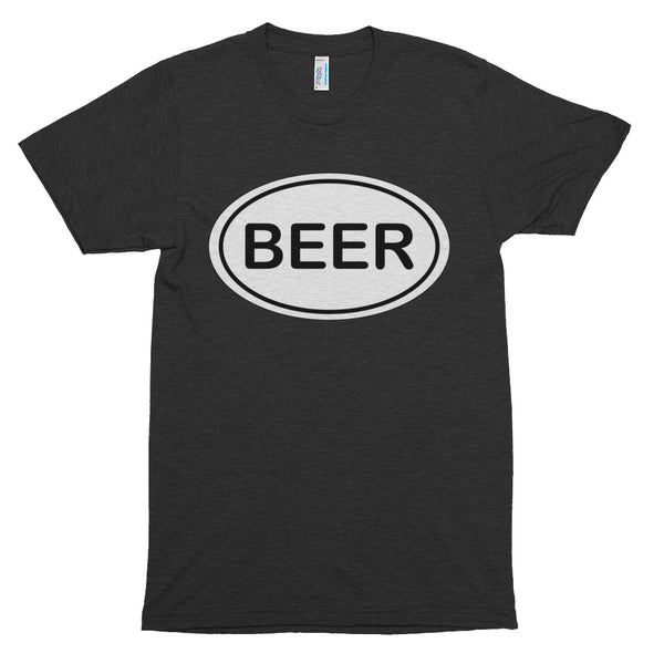 I HATE RUNNING - I LOVE BEER - Short sleeve soft t-shirt (American Apparel)