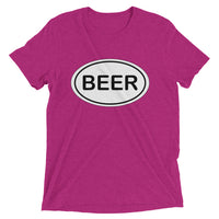Beer instead of Running!  Short sleeve t-shirt (Super Soft)