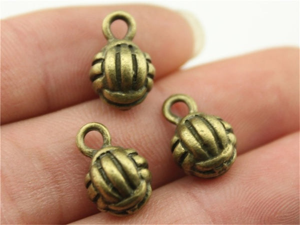 5pcs 10mm 3D Volleyball Charms,-,DIY Handmade Jewelry