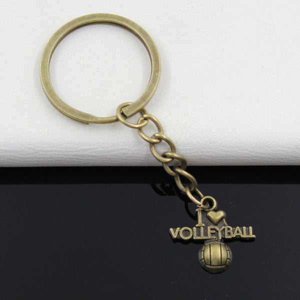 i love volleyball Pendants Key Chain