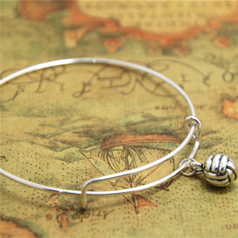 12pcs/lot Volleyball bracelet Volleyball Charm bangle adjustable