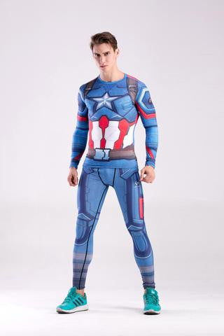 CAPTAIN AMERICA CODY HERO COOLDRY COMPRESSION SET