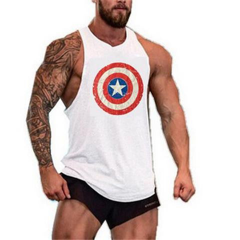 CAPTAIN AMERICA GYM TANK TOP