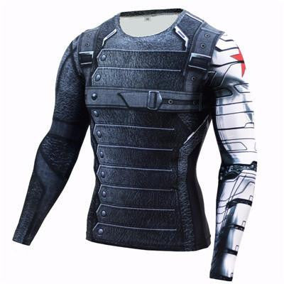 WINTER SOLDIER COOLDRY COMPRESSION SHIRT (RASHGUARD)