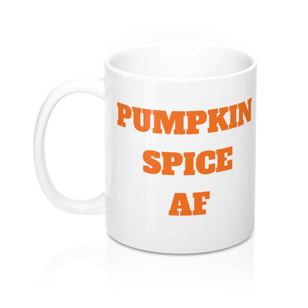 PUMPKIN SPIKE AF WHITE COFFEE MUG 2.0