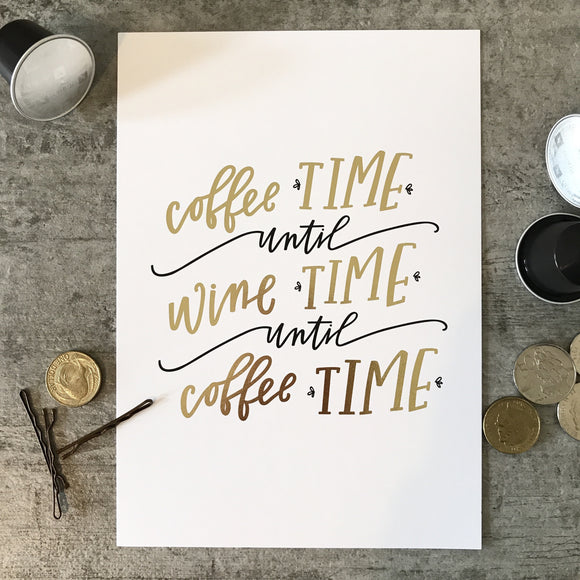 Coffee Time Until Wine Time (mini)