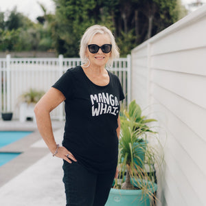 MANGAWHAI tee - BLACK FITTED