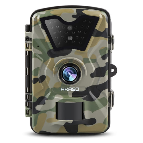 AKASO Trail Camera with Infrared Night Vision 1080P 12MP IP66 Waterproof Surveillance Camera