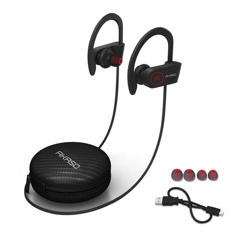 AKASO A1 Bluetooth Headphones w/ Mic