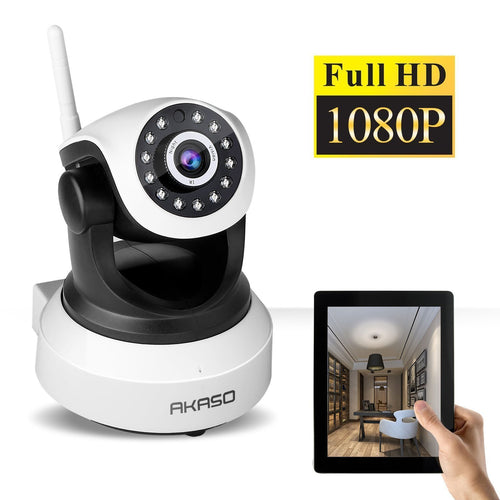 AKASO IP Security Wifi Camera Wireless Video Surveillance Monitor Home Indoor Webcam with Night Vision