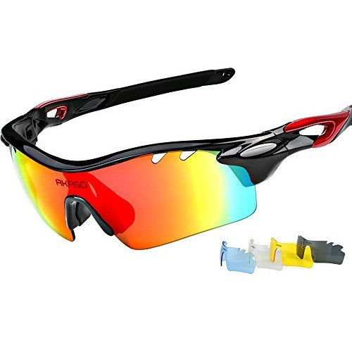AKASO Men's Multisport Polarized Sunglasses with 5 lenses (XQ-182)
